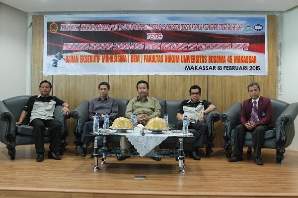 Kepala Kejati Sulselbar dialog Tentang Kasus Korupsi dengan Mahasiswa Unibos