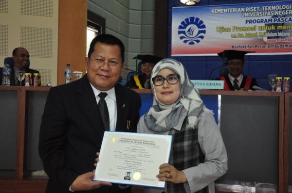 Teliti Ombudsman, Dosen Fisipol Unibos Raih Gelar Doktor