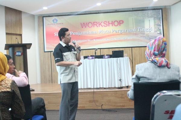 Workshop Sistem Penjaminan Mutu Perguruan Tinggi di Unibos 45