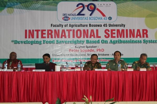 Fakultas Pertanian Unibos Gelar Seminar Internasional Ketahanan Pangan