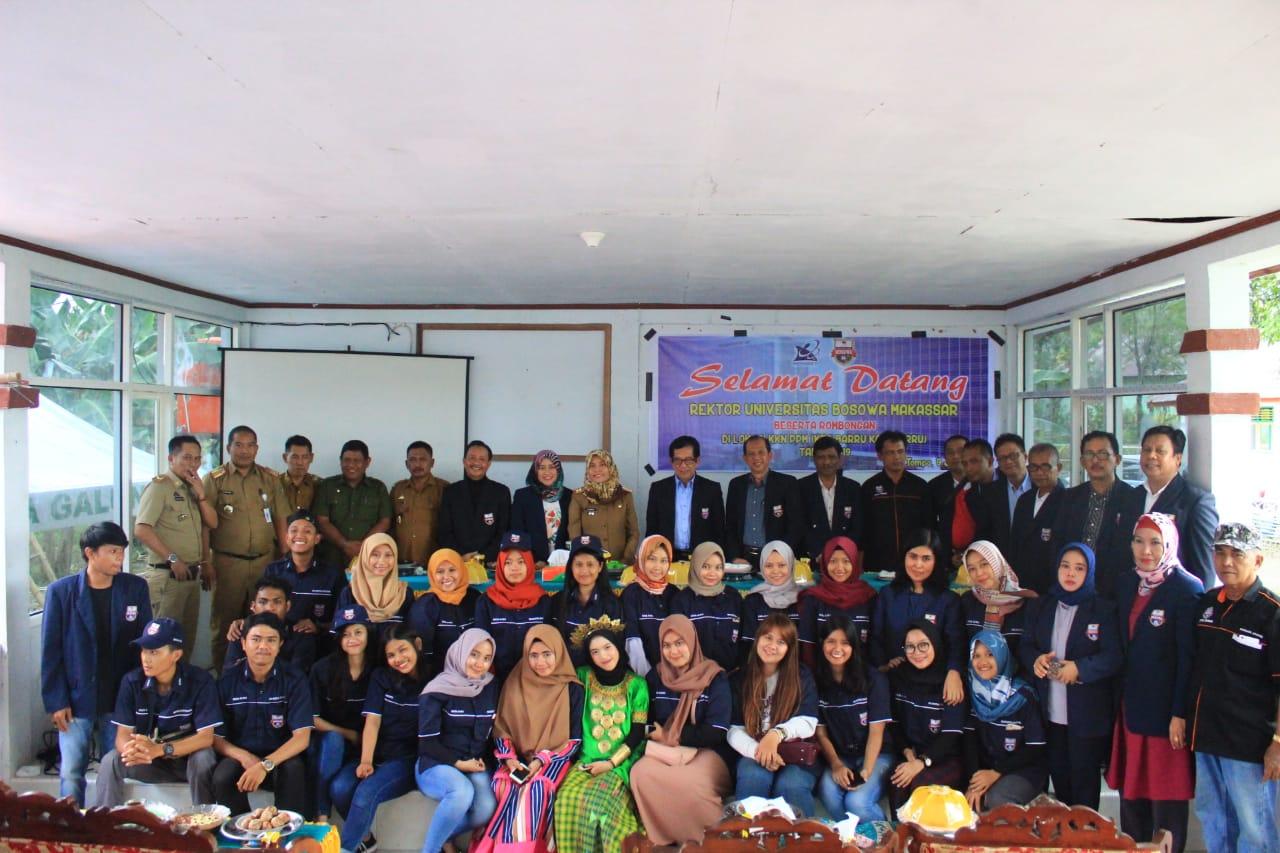 Rektor Unibos Kunjungi Lokasi KKN Mahasiswa di Barru